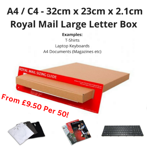 A4 / C4 Large Letter Box PiP Boxes