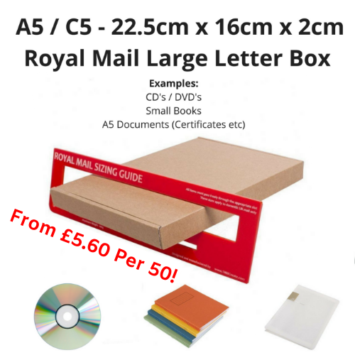 A5 / C5 Large Letter Box PiP Boxes