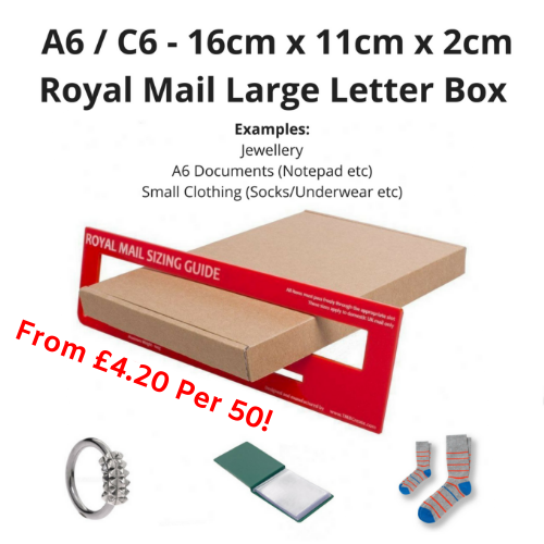 A6 / C6 Large Letter Box PiP Boxes