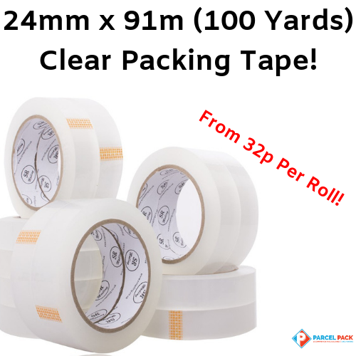 Clear Packing Tape 24mm x 91m