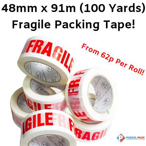 Fragile Packing Tape 48mm x 91m